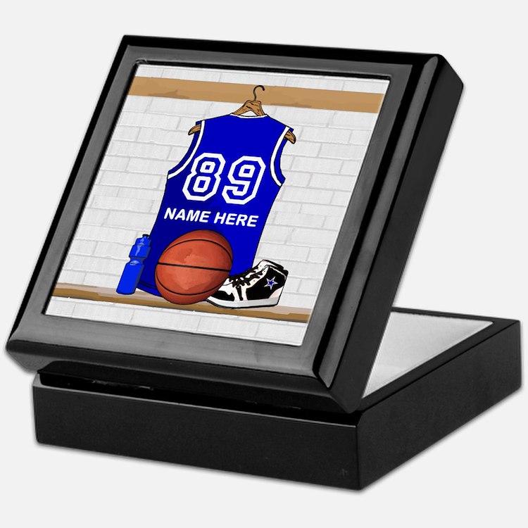 Personalized Basketball Jerse Keepsake Box