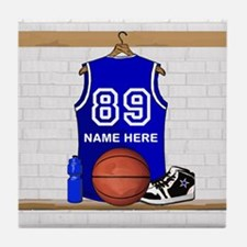 Personalized Basketball Jerse Tile Coaster