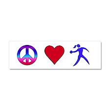 Peace Love Discus Car Magnet 10 x 3
