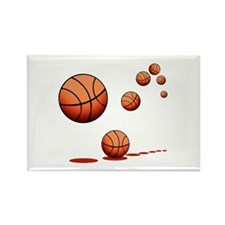 Basketball (A) Rectangle Magnet