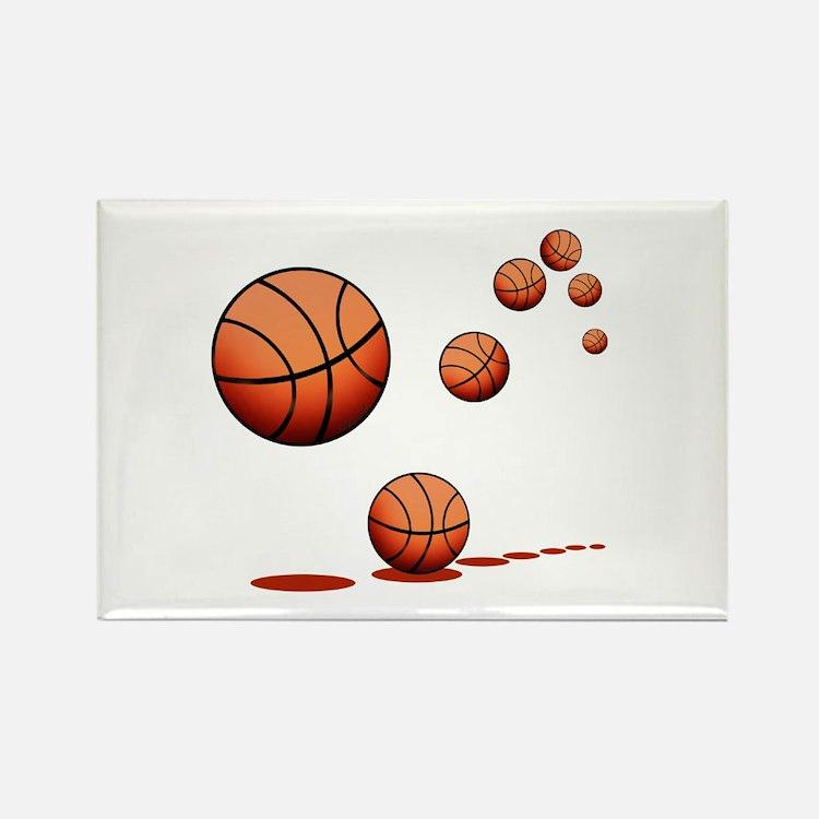Basketball (A) Rectangle Magnet