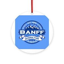 Banff Natl Park Cobalt Ornament (Round)