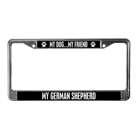 German Shepherd License Plate Frame