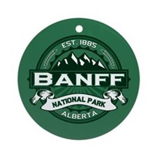 Banff Natl Park Forest Ornament (Round)