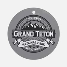 Grand Teton Ansel Adams Ornament (Round)