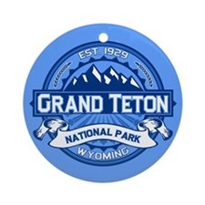 Grand Teton Cobalt Ornament (Round)