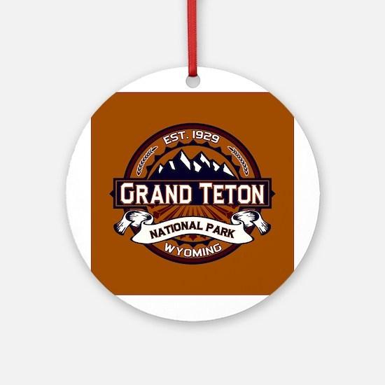 Grand Teton Vibrant Ornament (Round)