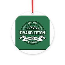 Grand Teton Forest Ornament (Round)