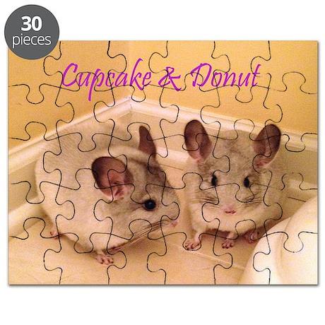 Cupcake and Donut Chinchilla Puzzle
