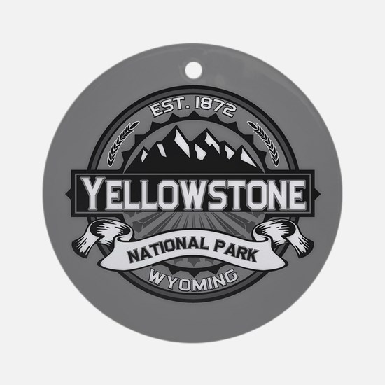 Yellowstone Ansel Adams Ornament (Round)