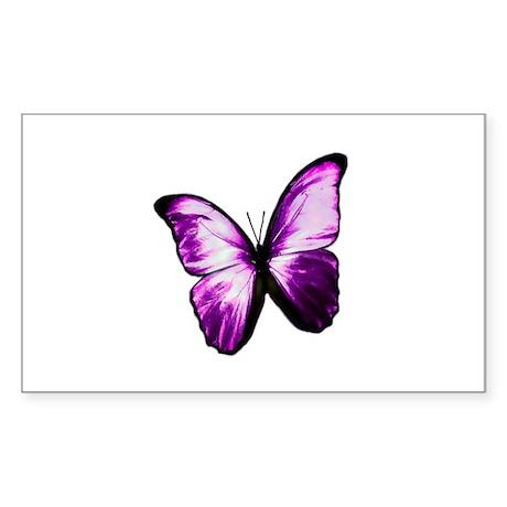 Purple Butterfly Sticker (Rectangle 10 pk)