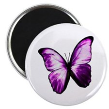 """Purple Butterfly 2.25"""" Magnet (10 pack)"""