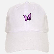 Purple Butterfly Baseball Baseball Cap