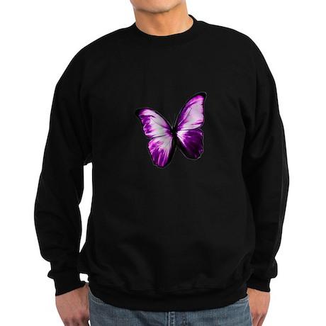 Purple Butterfly Sweatshirt (dark)