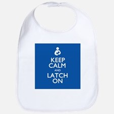Keep Calm and Latch On Bib