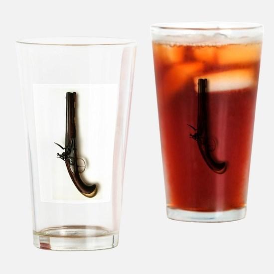 Civil War Pistol Drinking Glass