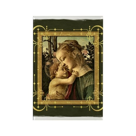 Madonna and Baby Jesus Rectangle Magnet