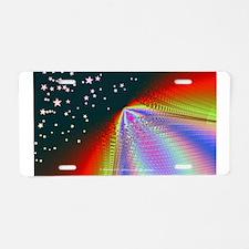 Rainbow to the Stars - Aluminum License Plate