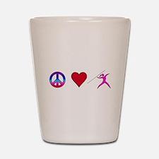 Peace Love Javelin Shot Glass
