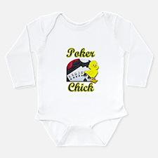Poker Chick #2 Long Sleeve Infant Bodysuit