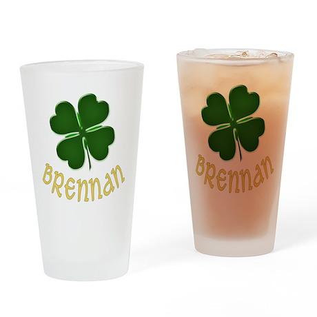 Irish Brennan Drinking Glass