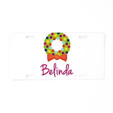 Christmas Wreath Belinda Aluminum License Plate