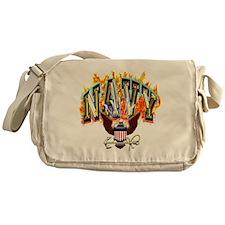 US Navy Flaming Eagle Messenger Bag