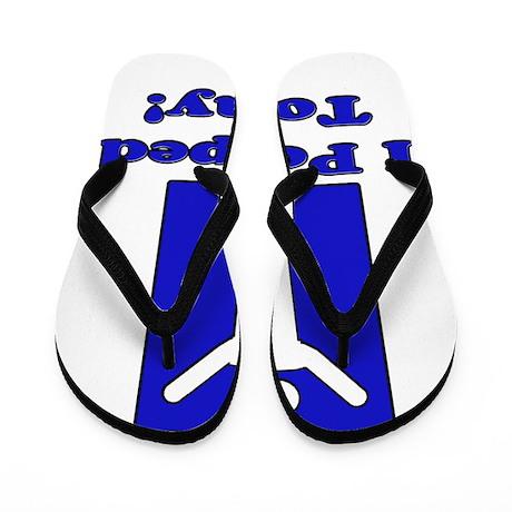PooTmanblue Flip Flops