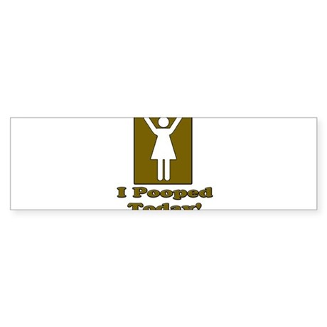 PooTwoman2 Sticker (Bumper)