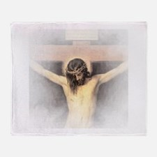 Christ Crucified Throw Blanket