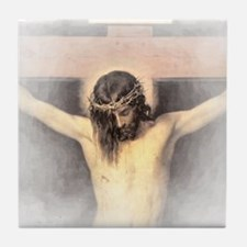 Christ Crucified Tile Coaster