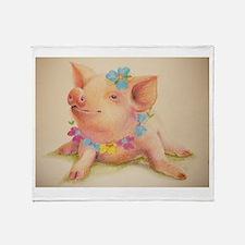 Cute I love bacon Throw Blanket
