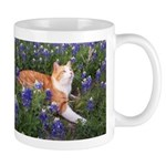 Cat in Bluebonnets Mug