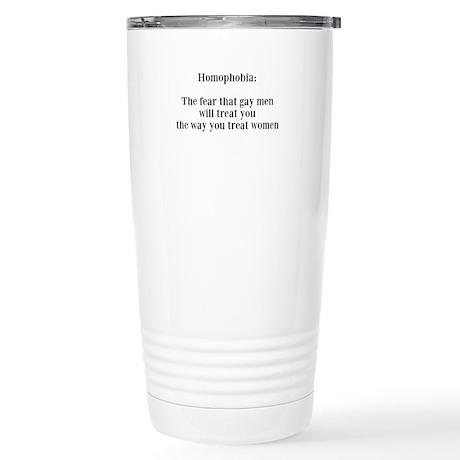 Homophobia Stainless Steel Travel Mug