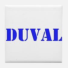 Duval County Name Tile Coaster