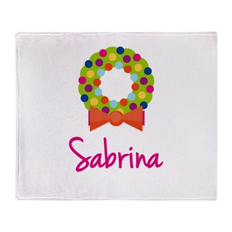 Christmas Wreath Sabrina Throw Blanket