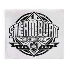 Steamboat Old Square Throw Blanket