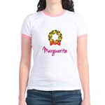 Christmas Wreath Marguerite Jr. Ringer T-Shirt