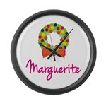 Christmas Wreath Marguerite Large Wall Clock