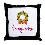 Christmas Wreath Marguerite Throw Pillow