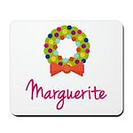 Christmas Wreath Marguerite Mousepad