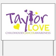 Cute Childhood cancer awareness month Yard Sign