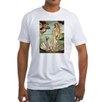 Venus - Yellow Lab #7 Fitted T-Shirt