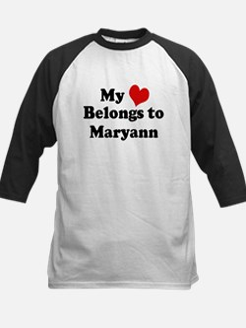 My Heart: Maryann Kids Baseball Jersey