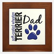 Soft-Coated Wheaten Terrier Dad 2 Framed Tile
