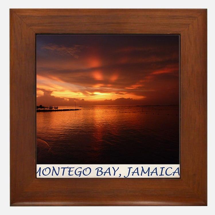 Montego Bay Sunset Framed Tile