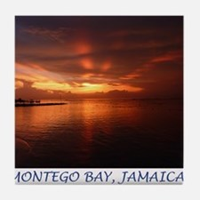 Montego Bay Sunset Tile Coaster