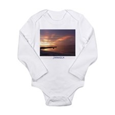 Jamaica Sunset Long Sleeve Infant Bodysuit