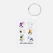 Ballroom Dancers Aluminum Photo Keychain