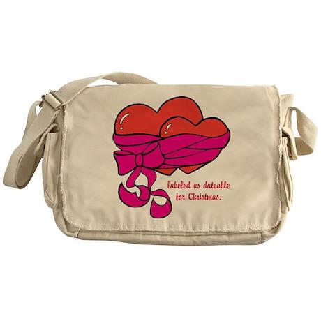 Christmas Hearts Messenger Bag